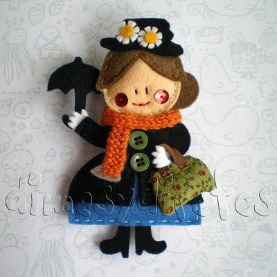 Mary Poppins made with felt