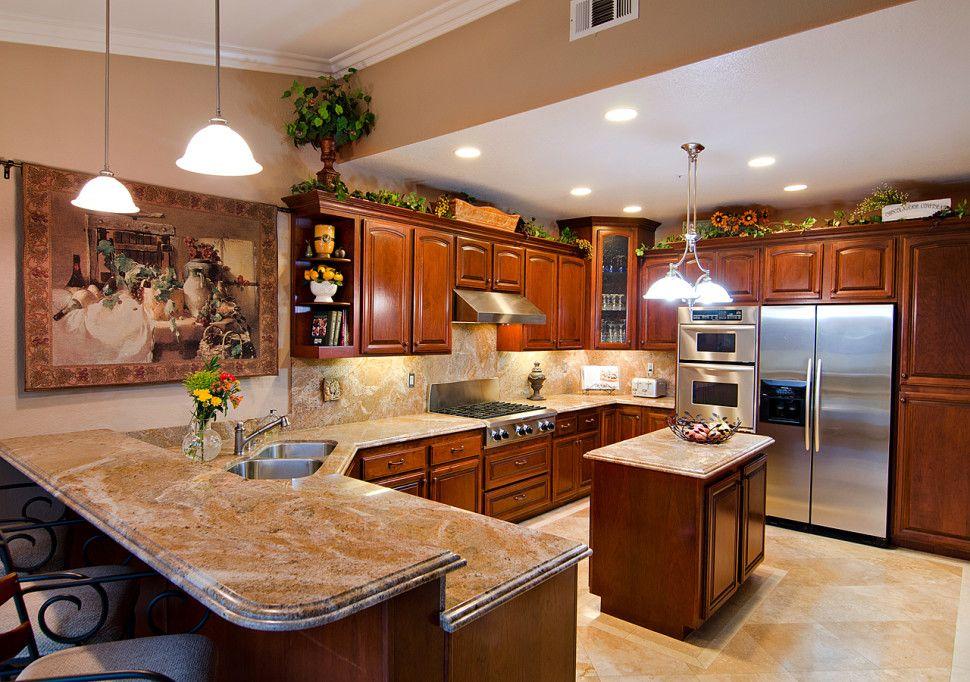 Kitchen kitchen modern u shape kitchen decoration with for Most modern kitchen design