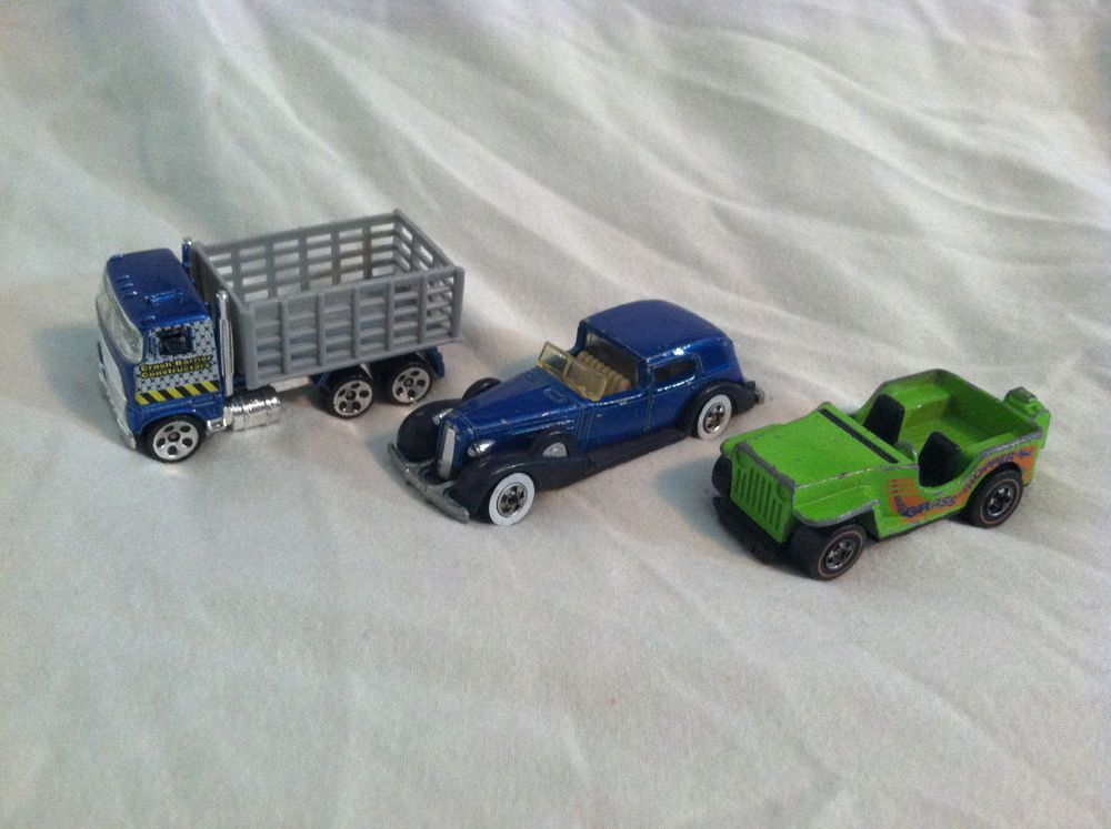 LOT OF 3 USED OLDER VINTAGE HOT WHEELS CARS! 1970s 1980s Truck ...