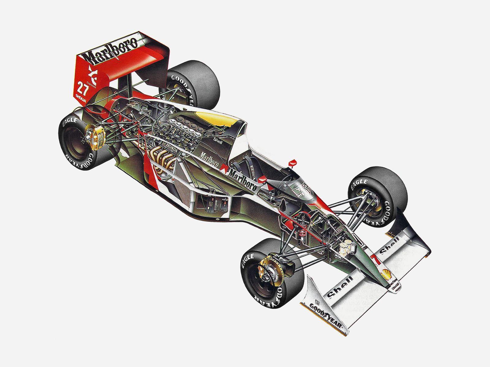 1990 McLaren Honda MP4-5B - Illustration by Antonio Eiras