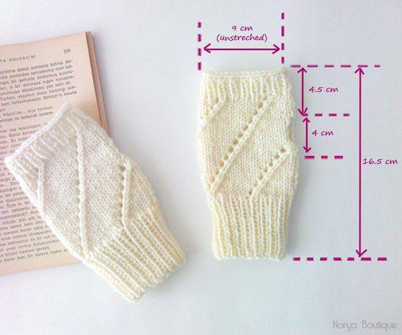 Gants sans doigts en ivoire, chauffe-bras pour femmes, gants en tricot sans couture pour femmes, mélange de laine, accessoires d'hiver, cadeau pour elle