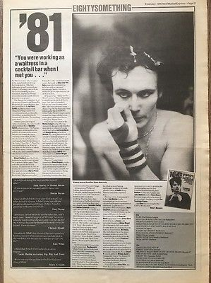 "ADAM ANT 81 PICTURE ARTICLE ORIGINAL ADVERT 16 X 12"" POSTER SIZE 6 JAN 1990"