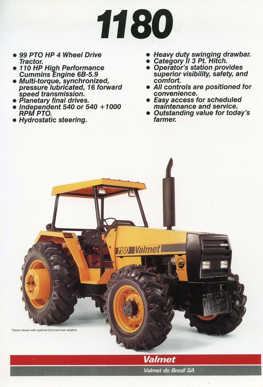 Valmet 1180 tractor leaflet - Brazilian made tractor • £1.99 - PicClick UK