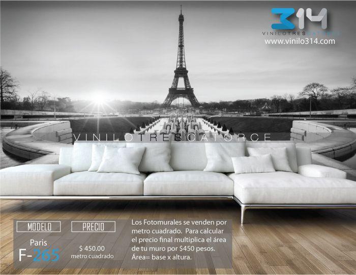 Fotomurales torre eiffel paris blanco y negro tapiz - Decoracion en blanco ...