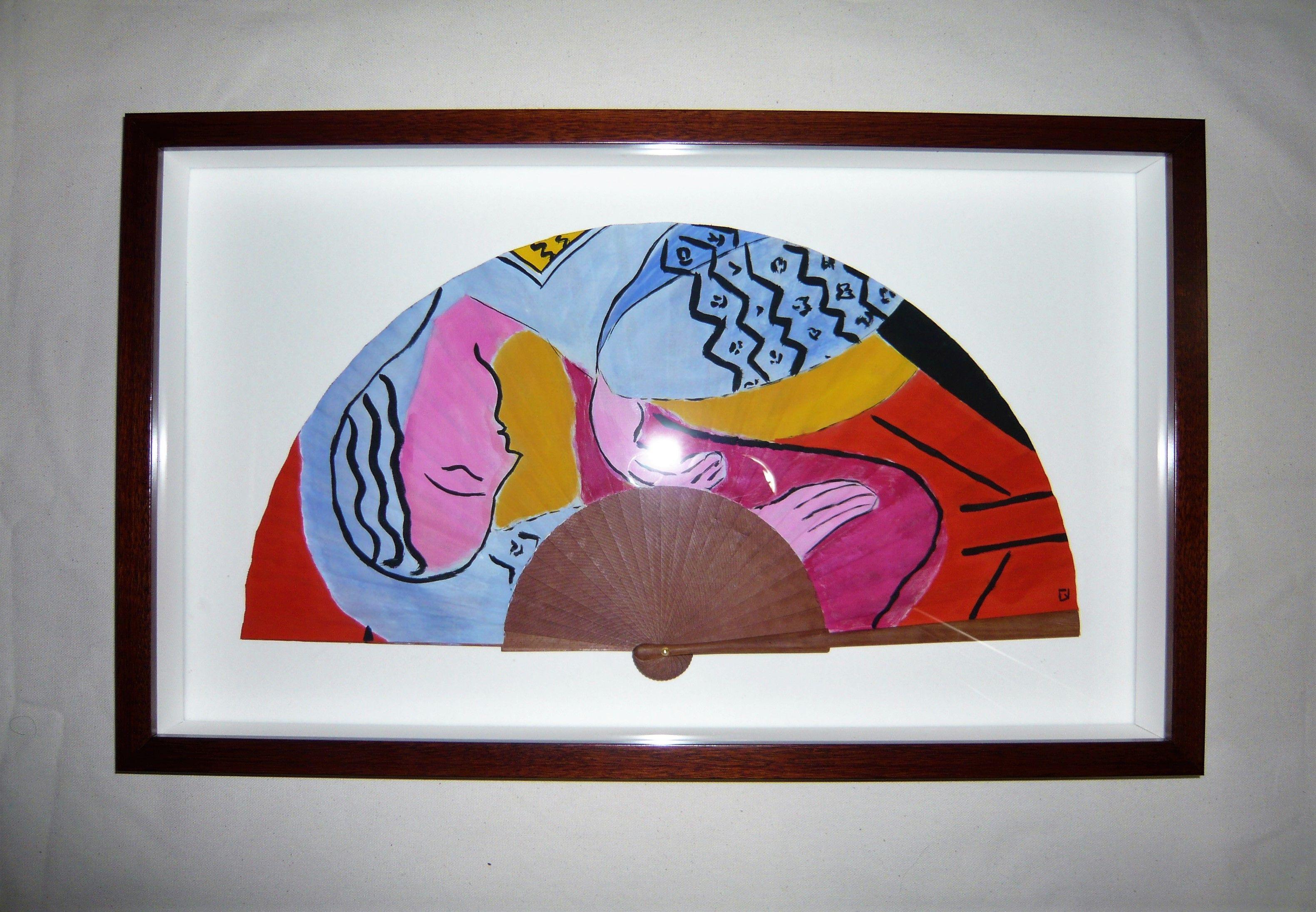 Abanico pintado a mano a partir de una obra de H. Matisse ...