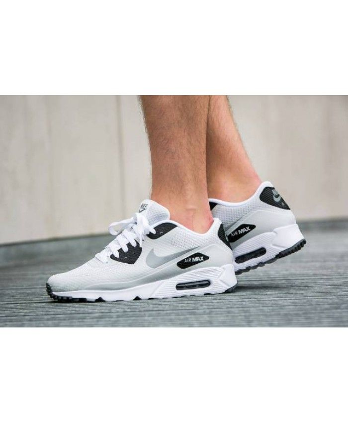 58b15cd7325127 Nike Air Max 90 Ultra Essential White Black Mens Trainers Sale UK ...