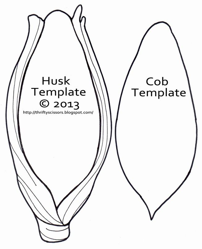 image relating to Corn Printable named ear of corn template - Google Glimpse Farm and Gardening