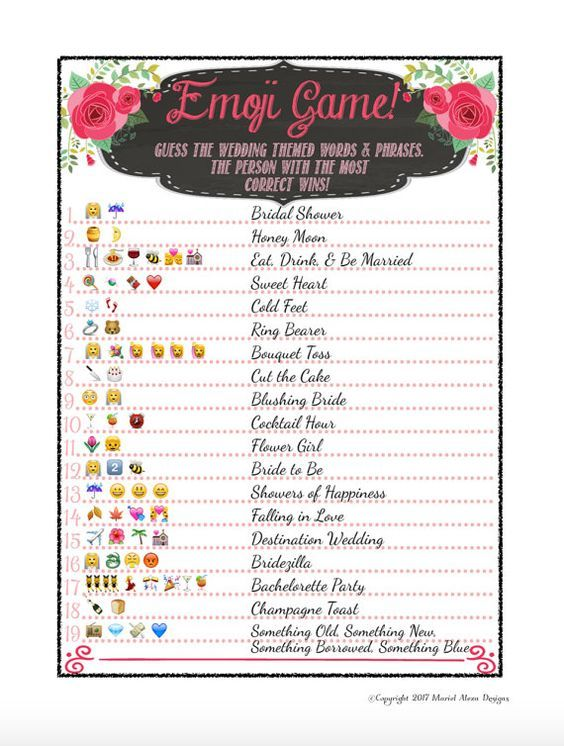 photograph regarding Emoji Bridal Shower Game Free Printable titled Bridal Shower Emoji Video game - Entertaining Distinctive Video games Do it yourself PDF Marriage