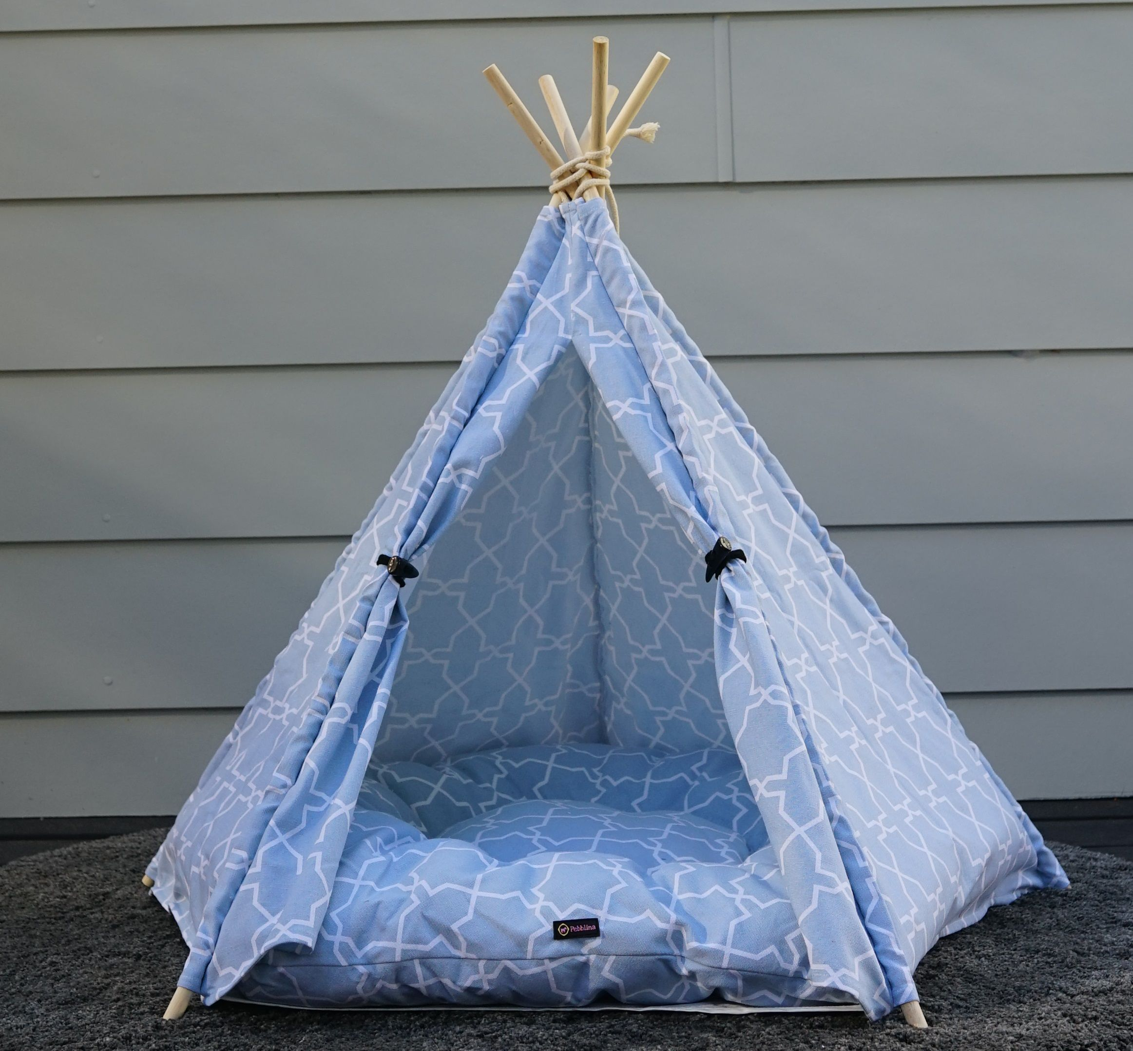 Blue Heaven Dog Teepee Tent Dog tent, Dog tent bed, Cool