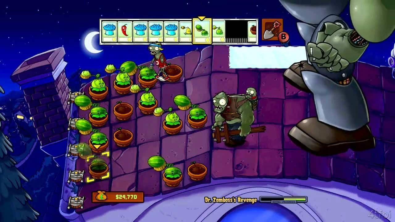 Plants vs Zombies Xbox 360 Dr  Zomboss's Revenge Minigame