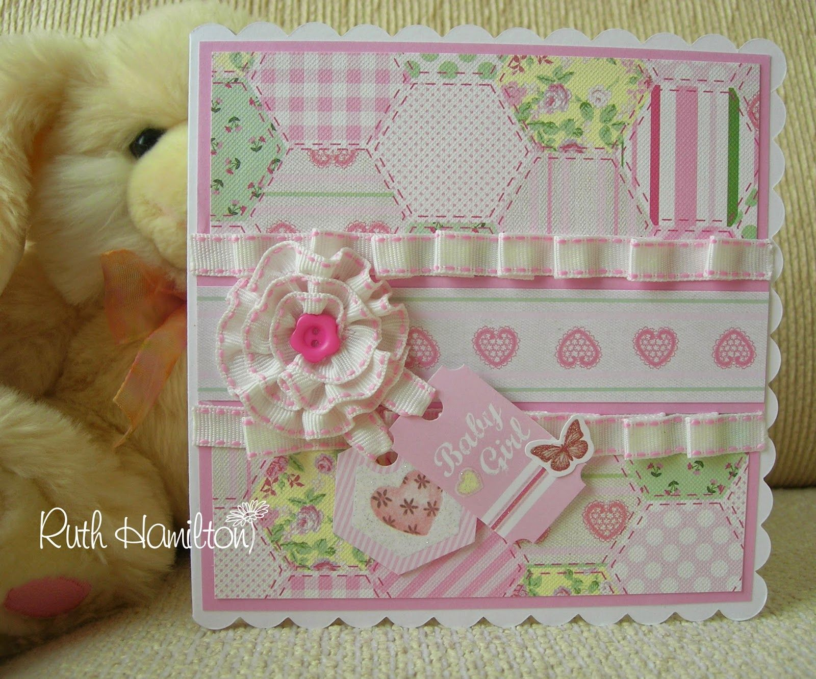Card Making Ideas Baby Part - 25: Trimcraft Baby Girl Project - How To Make This Card.