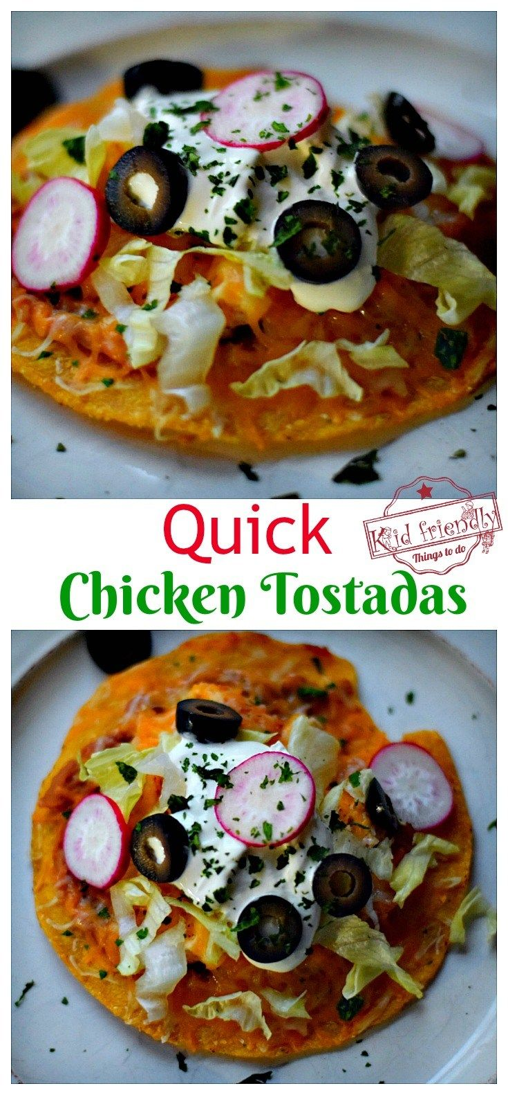 Quick chicken tostadas easy mexican food recipe easy mexican quick chicken tostadas easy mexican food recipe easy mexican food recipes mexican food recipes and tostadas forumfinder Choice Image