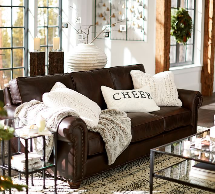 Webster Leather Sofa Living Room Decor Brown Couch Brown Living Room Decor Leather Couches Living Room