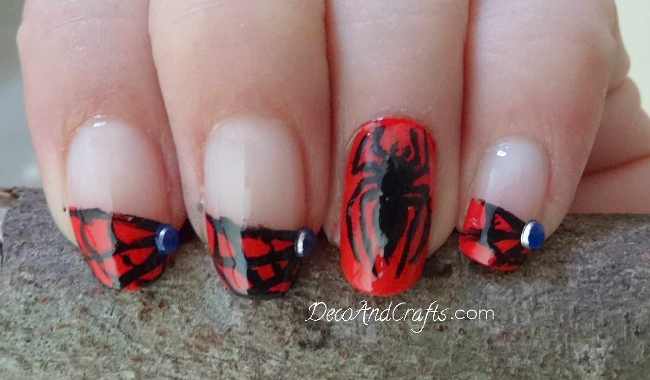 Spiderman nails - uñas hombre araña Video: youtu.be/mrLcN3o2ipc ...