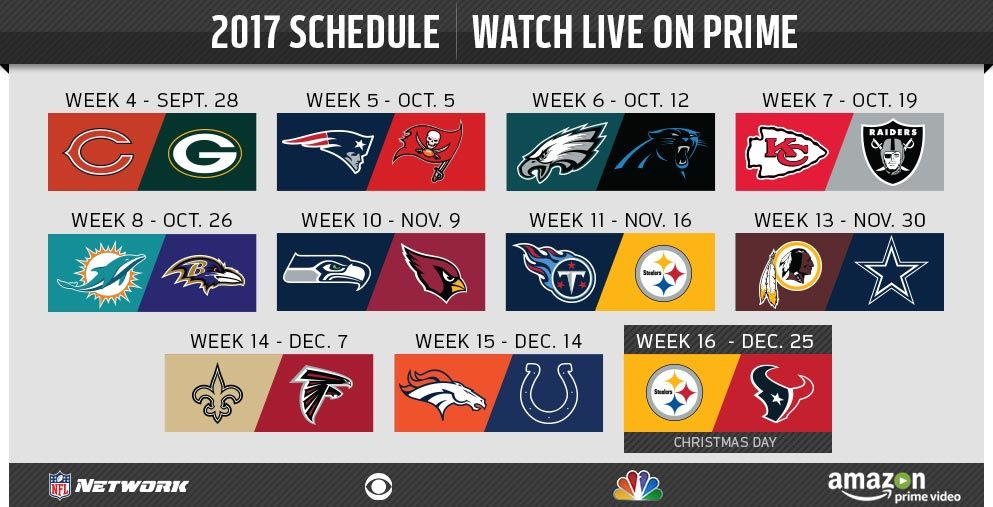 Thursday Night Football Will Be Broadcasted On Amazon Prime Video