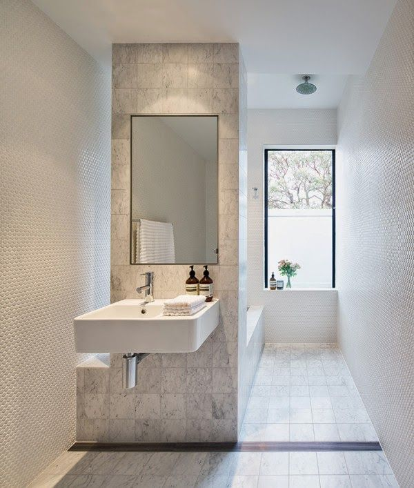 Simple use of space in the #bathroom with nice clean lines throughout