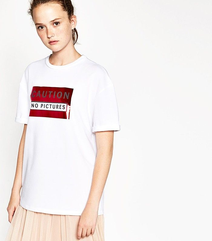 Zara S New T Shirt Trend Is About To Be All Over Instagram Zara New Zara T Shirts For Women