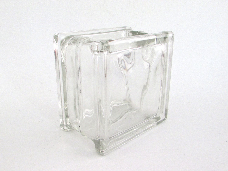 Vintage glass brick vase glass block made in germany industrial vintage glass brick vase glass block made in germany industrial decor by foxlanevintage reviewsmspy