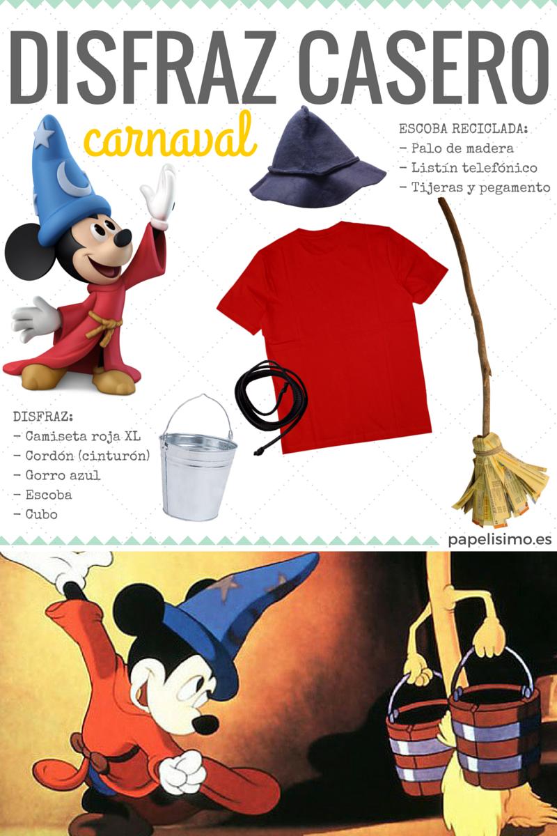 Disfraces caseros para niños. Mickey