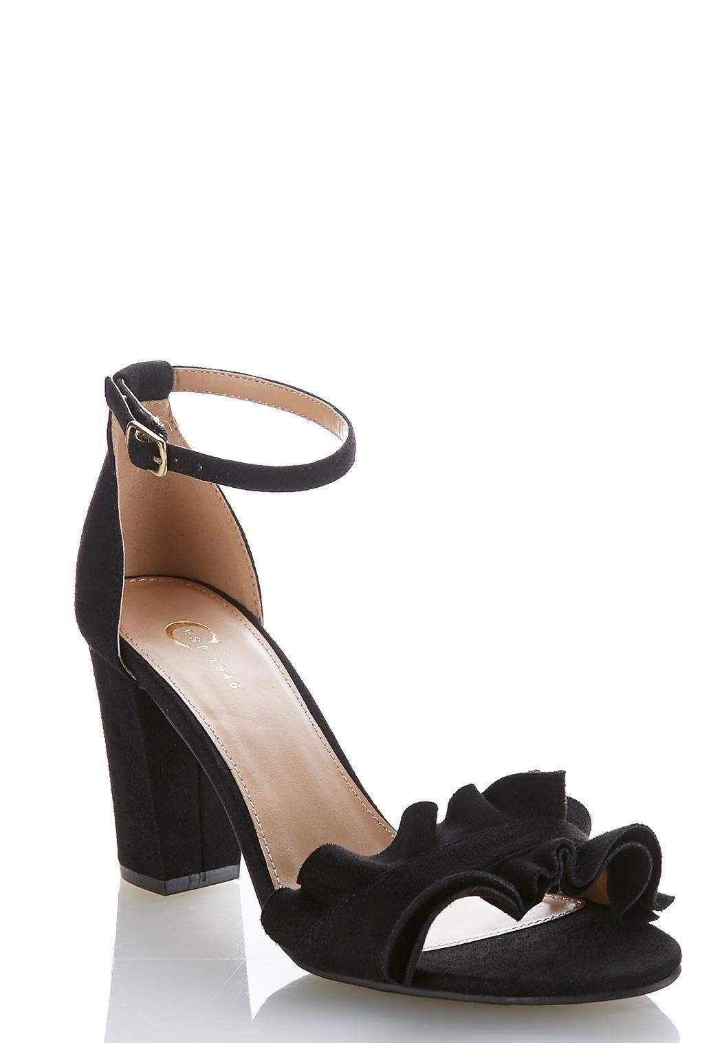 3d5ffd2b154 Ruffled Vamp Heeled Sandals  CatoConfident  CatoFashions