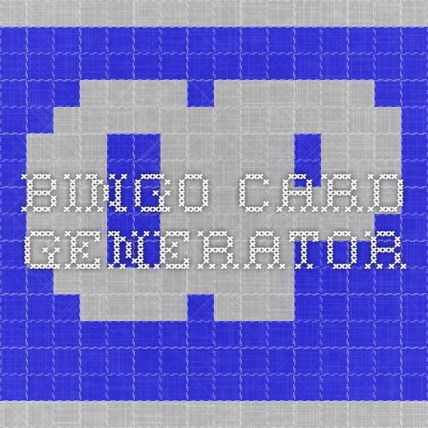 bingo card generator with images  bingo card generator