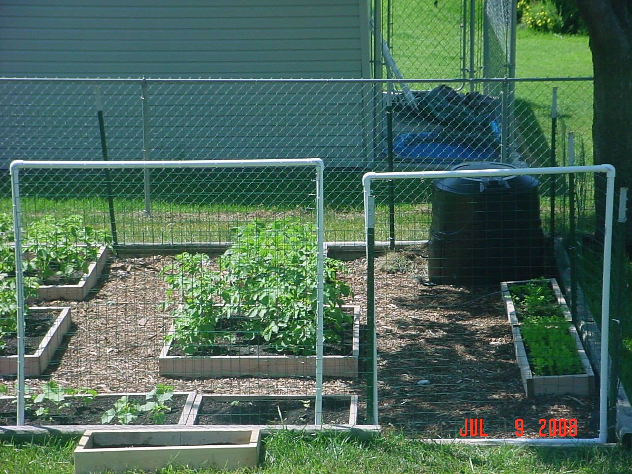 Building A Trellis And Garden Gate Out PVC For Raised Beds; I Used PVC,