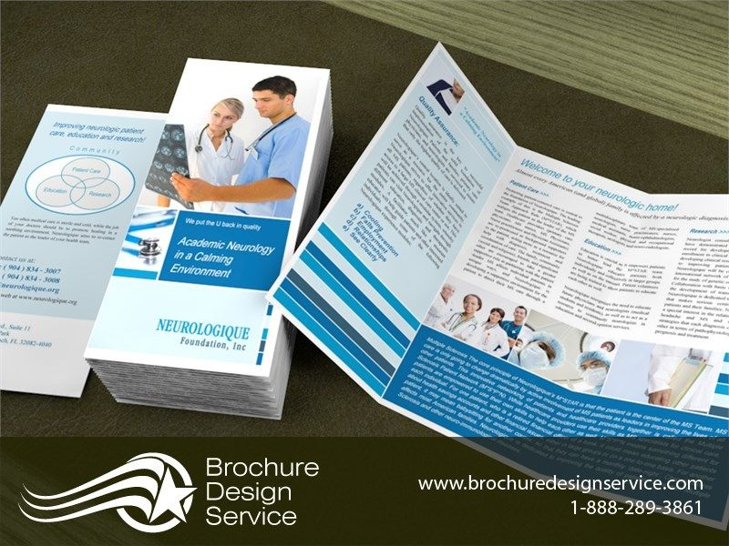 Brochure Design Sample for Neurology – Sample Bi Fold Brochure