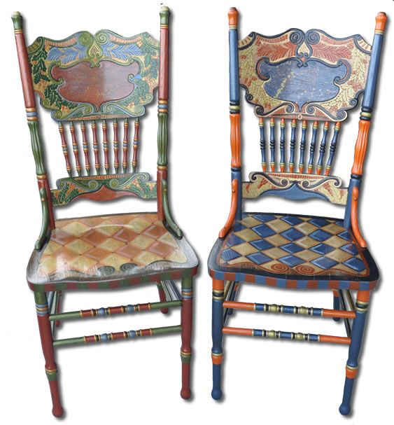 Attractive Chairs | One Offs Art U0026 One Of Designs   Custom Hand Painted Furniture By  Nancy
