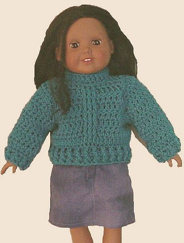 sweater for american girl doll (free pattern @ ravelry) | Free ...