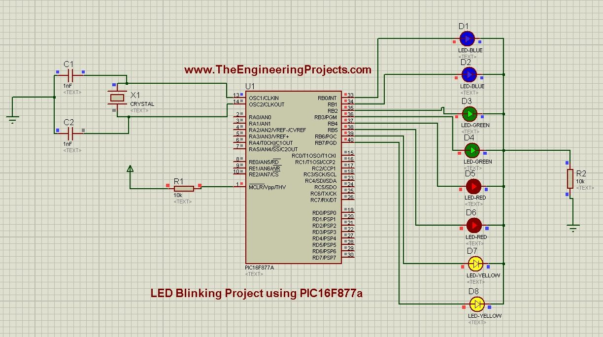 In Todays Tutorial I Am Going To Design An Led Blinking Project Digital Code Lock Using 8051 Microcontroller At89c51 With Pic16f877a