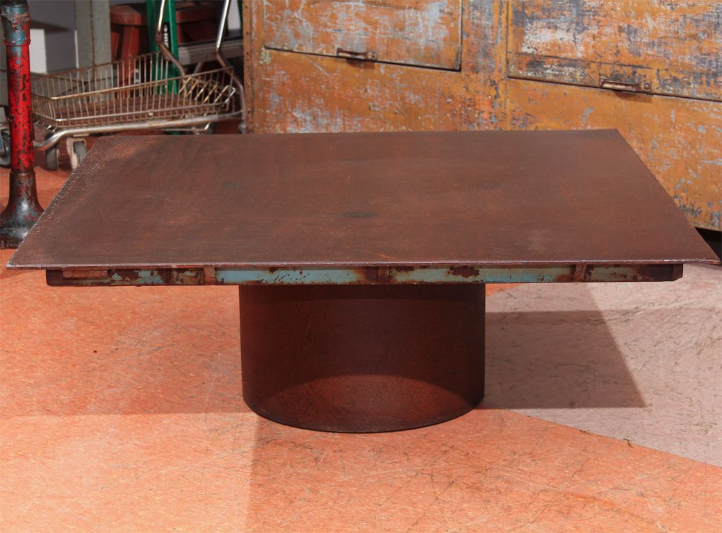 rusted coffee table