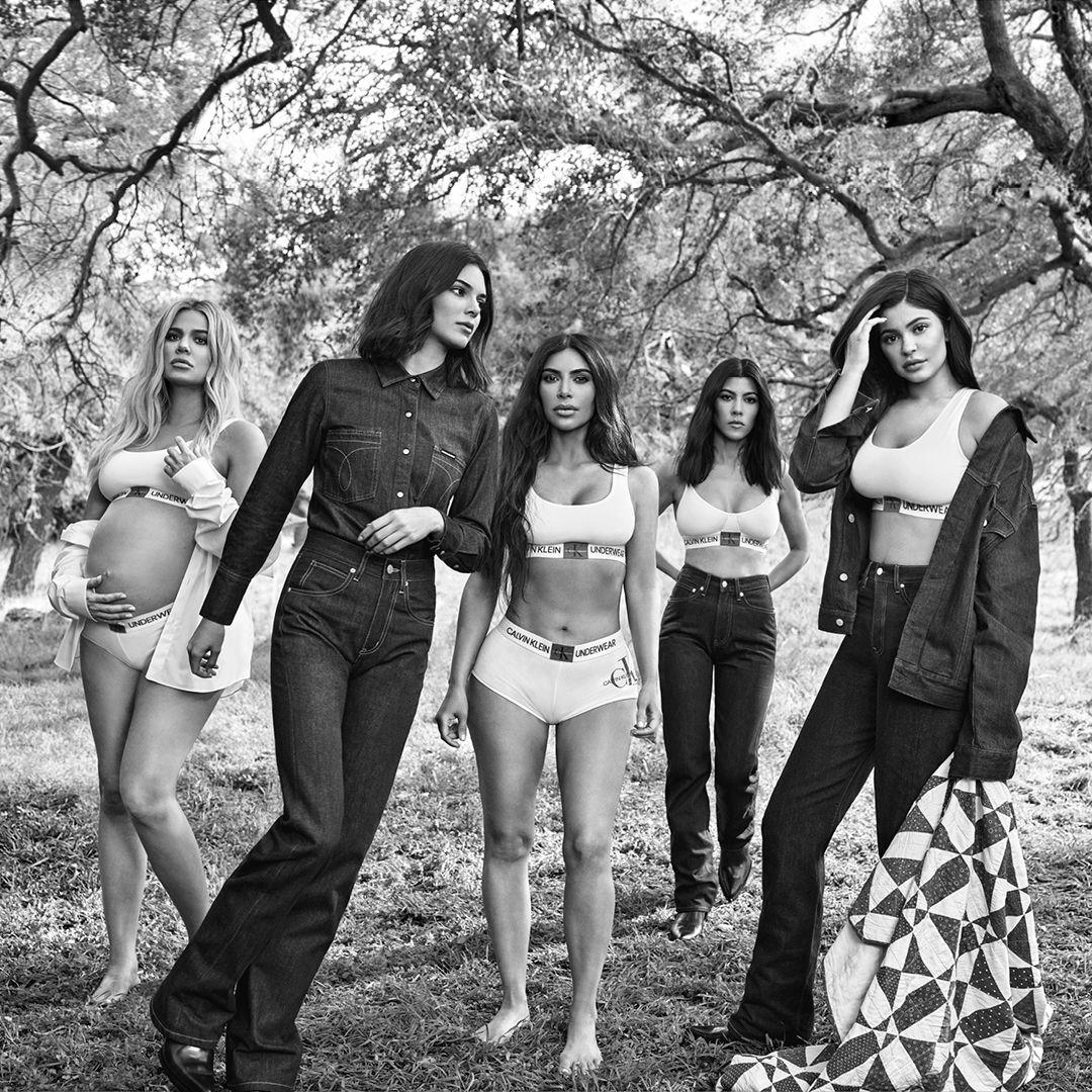 Our family makes us who we are: Kim Kardashian, Kendall Jenner, Kourtney Kardashian, Kyli… | Kendall jenner calvin klein, Kylie jenner outfits, Kylie kristen jenner