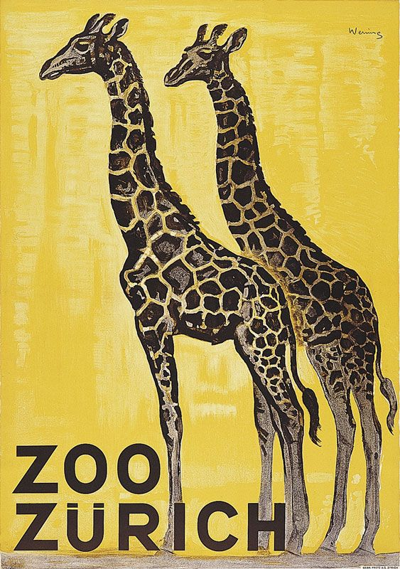 Vintage Berlin Zoo Black Panther Tourism Poster Print A3//A4