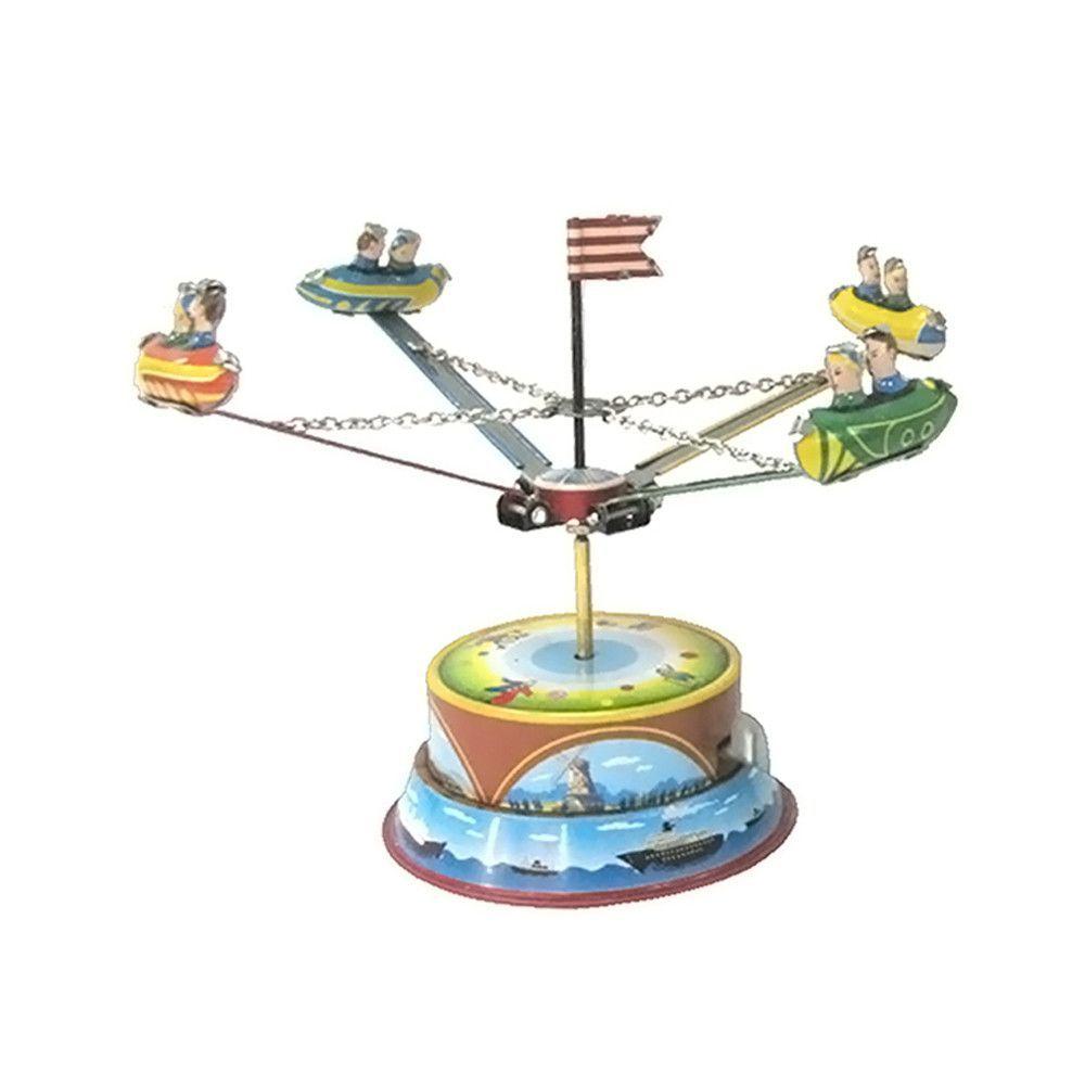 "Alexander Taron Home Decoration Collectible Tin Toy - Carousel - 4.75""""H x 6.5""""W x 6.5""""D"