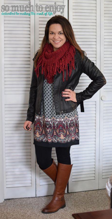 0d28ef86764 RD Style Rhonda Faux Leather Jacket RD Style Brianna Dress - Stitch Fix  Review December 2015 www.somuchtoenjoy.com  somuchtoenjoy  stitchfix