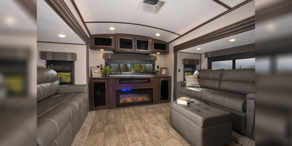 Image By Vehq On Rv Life Hidden Bed Sofa Bed Luxury Fifth Wheel