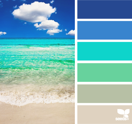 Ocean color palette on pinterest ocean colors color for Ocean blue color combinations