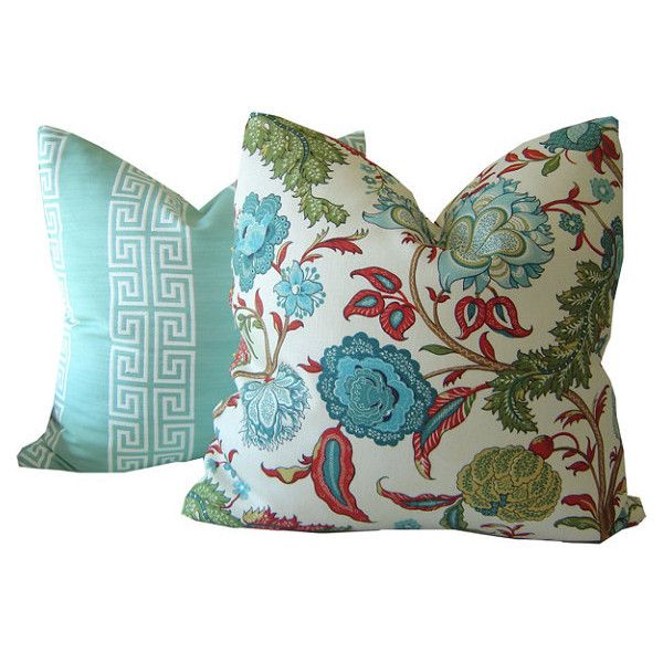 Floral Accent Pillows ($67) ❤ liked on Polyvore featuring home, home decor, throw pillows, floral toss pillows, floral throw pillows, floral home decor, flowered throw pillows and floral accent pillows