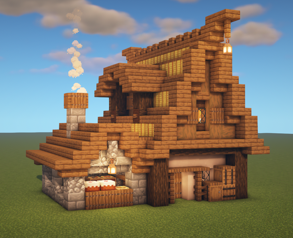 Modern Bakery House in 2020 | Minecraft houses, Minecraft ...