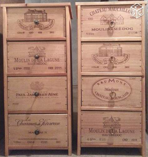 Meuble bois ,tiroir caisse de vins Ameublement Hauts-de-Seine