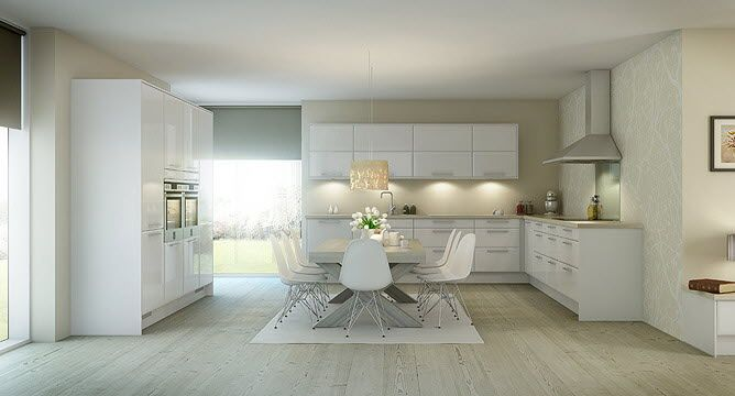 White Kitchen Laminate Flooring kitchen:wonderful nordic kitchens style room bay window partition