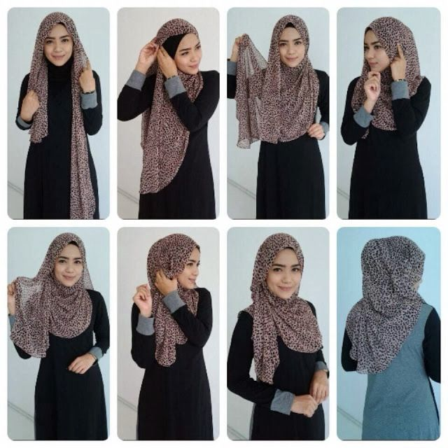 Another Hijab Tutorial With Images Hijab Style Tutorial How