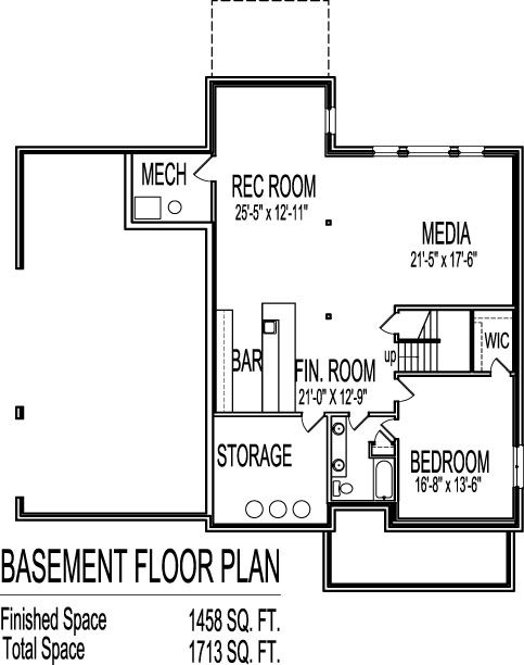 2 story architect home 4 bedroom open floor plan front for Open floor plans with basement