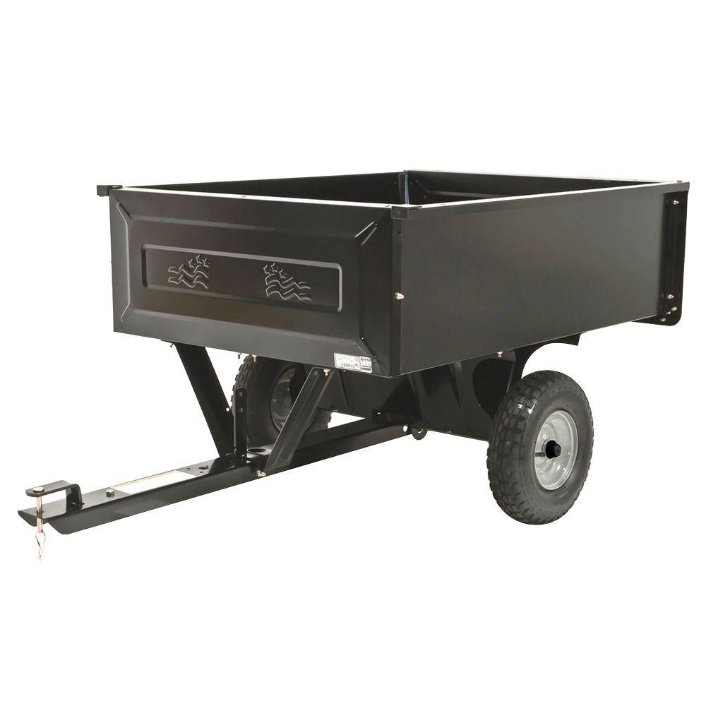 Agri Fab 10 Cu Ft Steel Dump Cart 45 0303 The Home Depot In 2020 Dump Cart Lawn Mower Tractor Garden Wagon