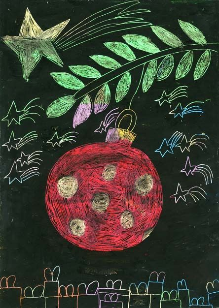 Dibujos premiados en el V Concurso Infantil de Postales Navideñas  Universidad de Alicante  Categoría 8-10 años.  Autor: Luis Maestre Pastor