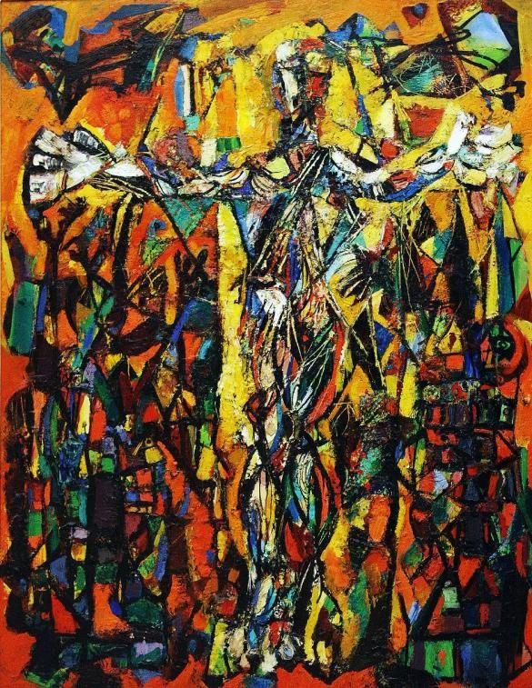 Crucifixion In Yellow 1953 Abraham Rattner Abraham Rattner