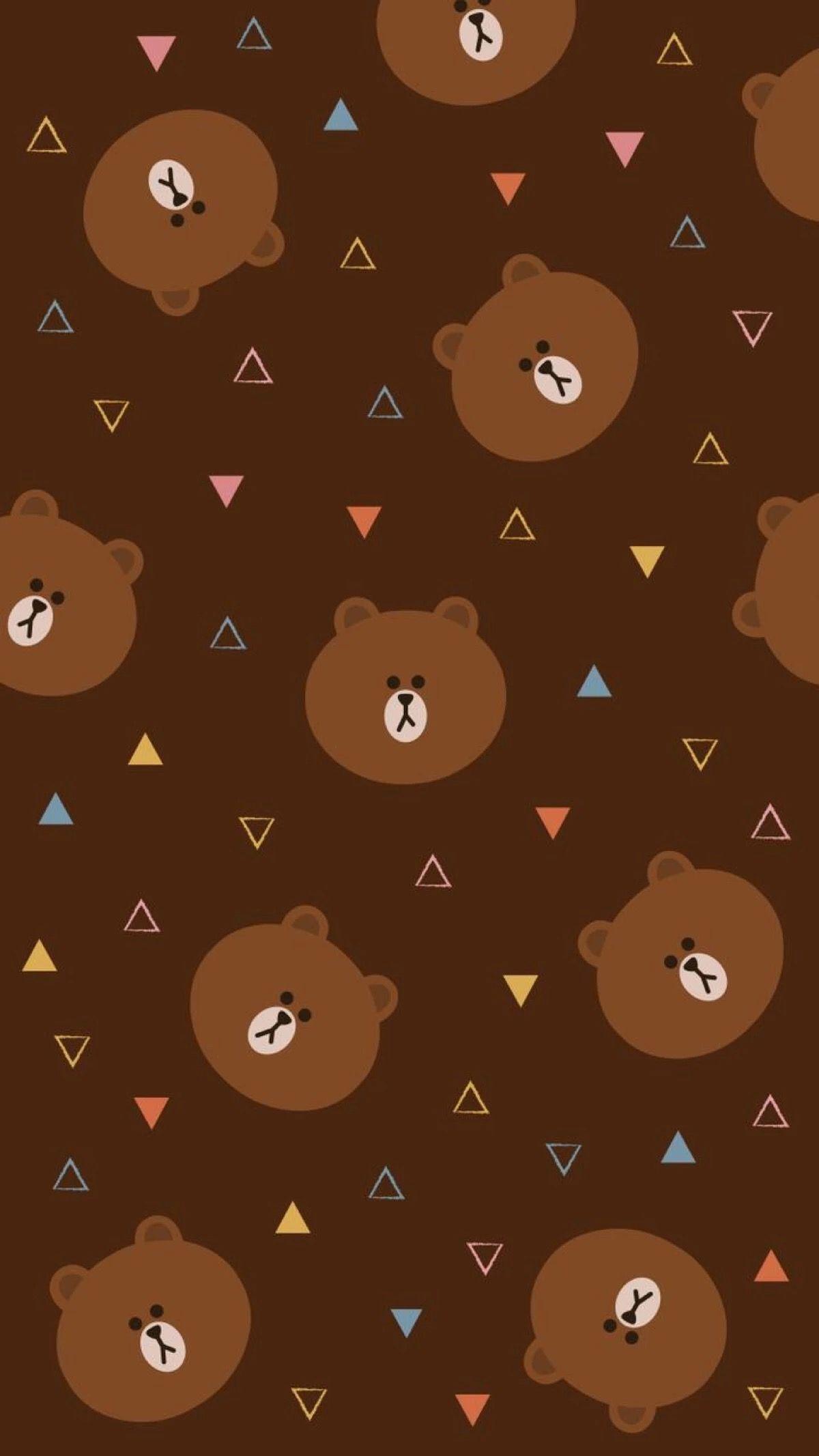 Cute Wallpaper Latar Belakang Animasi Beruang Coklat