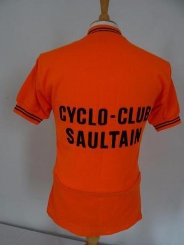 6360a114f Vintage 70s Acrylic CYCLING JERSEY France Orange Size M 035 R ...