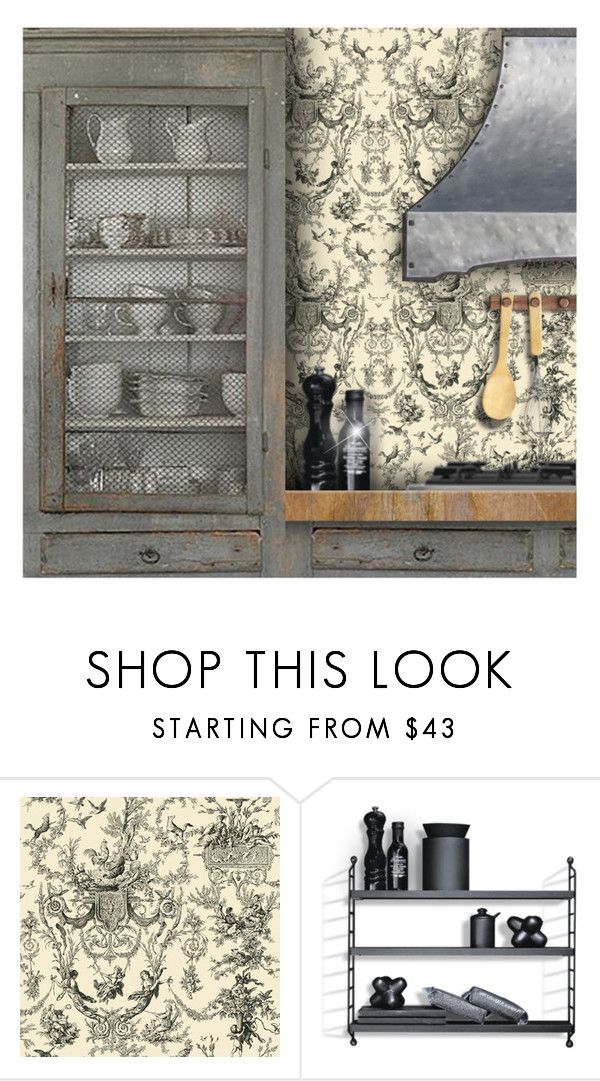 """Kitchen Vignette"" by debraelizabeth ❤ liked on Polyvore featuring interior, interiors, interior design, home, home decor, interior decorating, Transparente and kitchen"