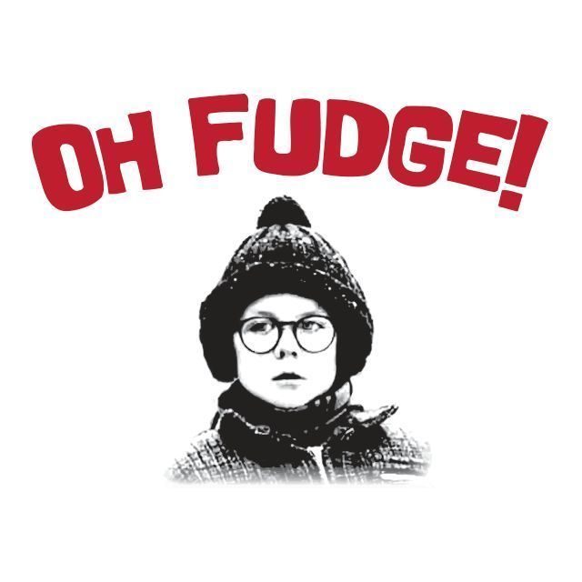 Oh Fudge A Christmas Story Ralphie Humor Funny Mens High Quality ...